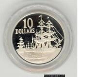 1988 Australia $10 Silver Proof Coin - First Fleet Bicentenary