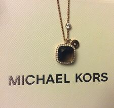 Michael Kors Smokey Topaz Rose Gold Tone Pendant NWT in Box Ret $ 95.00