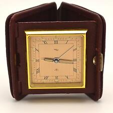 Imhof 8 DAY Travel Alarm Clock Made in Switzerland Swiss Running 1944 VGUC