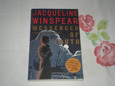 MESSENGER OF TRUTH by JACQUELINE WINSPEAR  -ARC-  -FM-