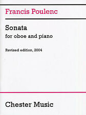Francis Poulenc Sonata For Oboe And Piano Revised 2004 Play Sheet Music Book