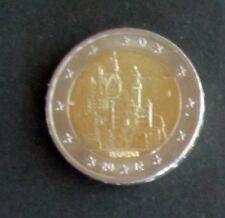 """2 Euro Sonder-Münze """"J"""" Bayern""""Schloss Neuschwanstein"""" Prägejahr 2012 aus Umlauf"""