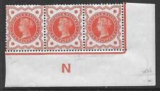 ½d Vermillion control N control imperf strip of 3 UNMOUNTED MINT