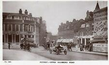 Putney Upper Richmond Road Motor Car RP old pc used 1909 Hutchinson & Co