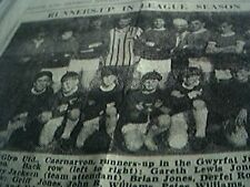 newspaper item 1934 football cae glyn utd gwyrfai junior league picture
