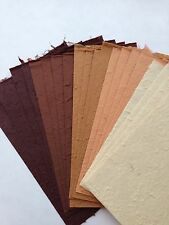 Brown set #2 20 Sheets of Handmade Saa MULBERRY PAPER- Cards, Craft, Tear