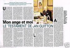 Coupure de Presse Clipping 1993 (2 pages) Testament de Jean Guitton