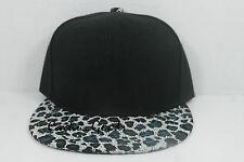 Blank Snapback Blue Cheetah Brim New Adjustable Crown