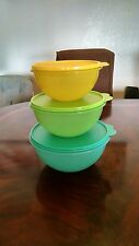 NEW Tupperware Classic Wonderlier Bowl  3 pc Set Blue Green & Yellow with Seals