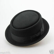 Details about  100% Wool Black Victorian Mad Hatter Top Hat Adult SIZE XL