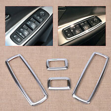 New 4x Car Chrome Door Window Switch Cover Trim For Jeep Grand Cherokee Journey
