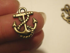 20 anchor l charms pendants bronze antique jewellery making wholesale craft UK