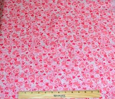 VALENTINES DAY FABRIC! BY THE HALF YARD! QUILTING~DOLL CLOTHES! HEARTS~SPARKLES!