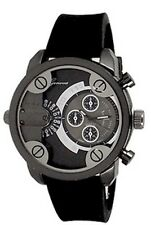Black Mens Geneva Watch Dual Time Fashion Designer Oversized Little Daddy
