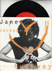 "JANET JACKSON Runaway PICTURE SLEEVE 7"" 45 rpm record + juke box title strip"