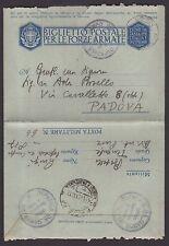 POSTA MILITARE 1942 Biglietto da PM 66 a Padova (FMC)