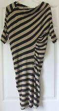 Vivienne Westwood Anglomania striped wiggle dress Arianna stretchy linen small