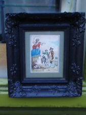 ANTIQUE 19TH C VICTORIAN NEMESIS ORIGINAL FRAMED WATERCOLOR PAINTING ON PAPER