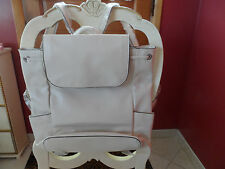 Vera Bradley Faux leather drawstring backpack in off white