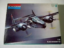 """MONOGRAM """" BLACK WIDOW P-61 """" 1/48 SCALE, SEALED FROM 1991"""