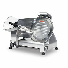 SEMI-AUTOMATIC COMMERCIAL MEAT SLICER 25CM BLADE THICKNESS ADJUSTMENT 0 - 15mm