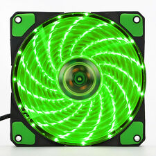 3-Pin/4-Pin 120mm LED Grün Gehäuse-Lüfter/Fan Mit Quad 15 LED Green Light