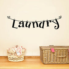 "New 1Pc Letter ""Laundry"" Style Room Art Mural Removable Wall Stickers Home Decor"