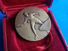 Médaille en Bronze par CONTAUX Ping Pong 1978 URSS FRANCE / French Medal