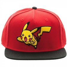 OFFICIAL NINTENDO'S POKEMON PIKACHU ATTACK RED & BLACK SNAPBACK CAP (NEW)