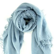 Chan Luu Scarf Soft Cashmere Silk Wrap Dusty Blue