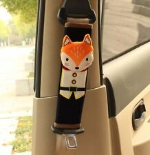 2pcs Cute Fox Cartoon  Series Car Auto Seat Belt Cover Shoulder Pads