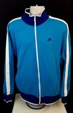 Nike Track Jacket XXL Turquoise Purple Blue Full Zip Embroidered 2XL RN 56323