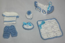 mini CROCHET blue boy set baby SHOWER / BAPTISM decoration / favour / gift