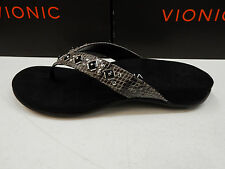 VIONIC W/ ORTHAHEEL TECHNOLOGY WOMENS SANDALS FLORIANA GREY SNAKE SIZE 8