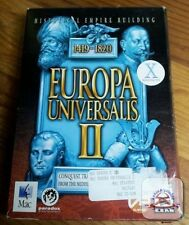 Europa Universalis II 2 1419-1820 + Manual MAC CD conquer world conquest game!