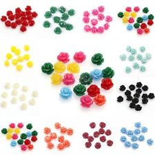 Lots 20pcs Beautiful Mixed Gorgeous Rose Flower Coral Resin Spacer Beads 10mm