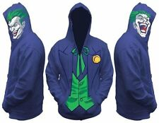 The Joker DC Comics Hoodie Sweatshirt Batman Dark Knight Movie Adult S Costume