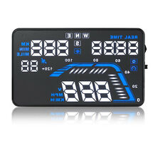 """5.5"""" Car HUD Head Up Display OBD II 2 Speed Warning Dashboard Screen Projector"""