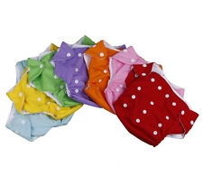 7 PCS Snap Reusable Washable Baby Cloth Diaper Nappy Cover Bloomer for Newborn