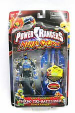 NIB Power Rangers Ninja Storm: Navy Thunder Turbo Tri-Battlized Power Ranger