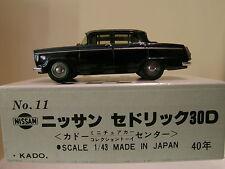 KADO OF JAPAN No.11 NISSAN CEDRIC 30D 1960 BLACK COLOUR BOXED SCALE 1:43