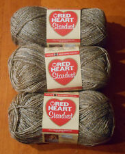 Red Heart Stardust Yarn Lot Of 3 Skeins (Brown #1303)