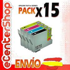 15 Cartuchos T0711 T0712 T0713 T0714 NON-OEM Epson Stylus DX7400