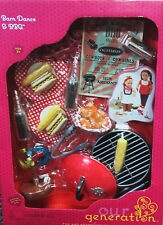 """Our Generation Barn Dance & BBQ RV Kitchen Food Set 18"""" Girl Doll NEW"""
