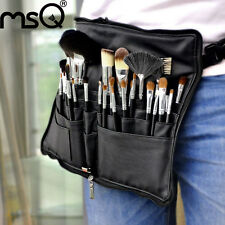 32Pcs Makeup Brushes Set Professional Kit Cosmetic Sable Hair PU Purse Black MSQ