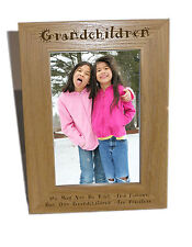 Grandchildren Wooden Photo Frame 5x7 - Personalise This Frame - Free Engraving