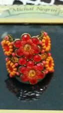 Michal Negrin big flowers  ring FREE Shipping