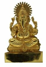 "Ganesh 6""  ANTIQUE METAL SMALL STATUE CAR HOME HINDU IDOL MURTI MANDIR"