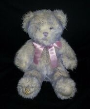 BUILD BEAR PURPLE GOLD RIBBON AWARENESS CHILDREN'S CANCER STUFFED ANIMAL PLUSH