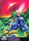 X-MEN CHROMIUM 1995 FLEER ULTRA ALTERNATE X EMBOSSED INSERT CARD 7 OF 20 CYCLOPS